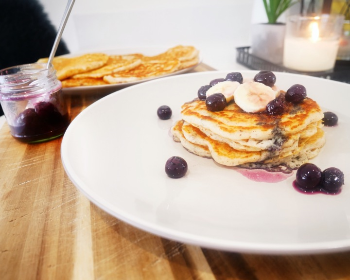 Lazy Sunday Fluffy Pancakes : Vegan and Gluten Free